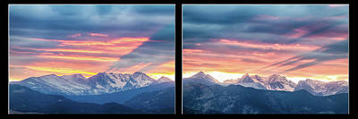Rocky Mountains Sunset Waves Panorama Collage Art Print by James BO Insogna