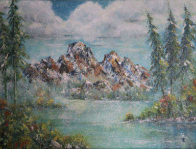 Painting - Rocky Mountains - First Snowfall by Shirley Heyn