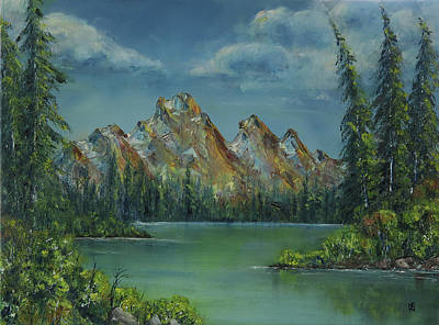 Painting - Rocky Mountains - Summer Lake by Shirley Heyn