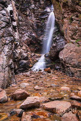 Photograph - Rocky Mouth Waterfall by Spencer Baugh