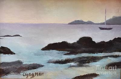 Painting - Rocky Neck At Sunset by Claire Gagnon