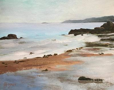 Painting - Rocky Neck Beach At Sunset by Claire Gagnon