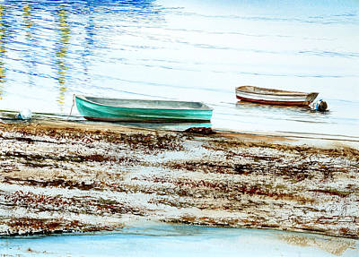 Painting - Rocky Neck Runabout Skiff by Paul Gaj