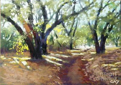 Painting - Rocky Oak Park by Celine  K Yong