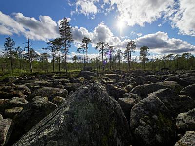 Photograph - Rocky Offroad. Boulderfield by Jouko Lehto