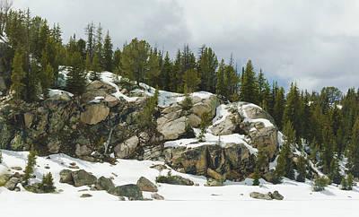Photograph - Rocky Outcrop In Winter by Lynn Hansen