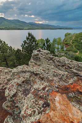Horsetooth Photograph - Rocky Overlook At Horsetooth Reservoir by Matt Thalman