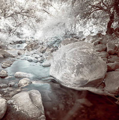 Photograph - Rocky Passage Of Escondido Creek - Infrared by Alexander Kunz