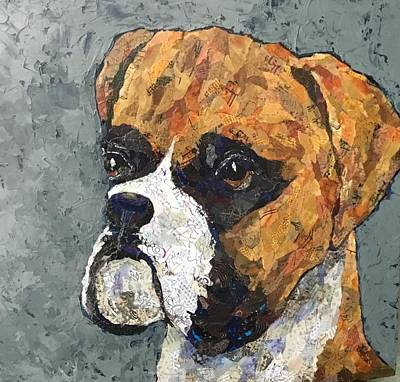 Painting - Rocky by Phiddy Webb