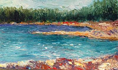 Painting - Rocky Point Breeze At Bass Lake by Shannon Grissom