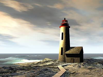 - Rocky Point Lighthouse by John Pangia