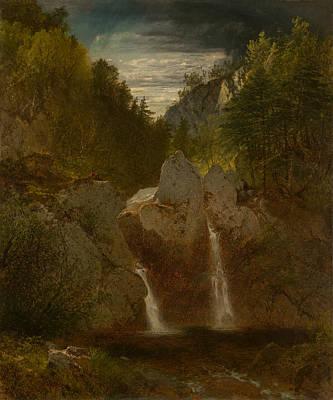 Bash Bish Falls Painting - Rocky Pool - Bash Bosh Falls by Mountain Dreams