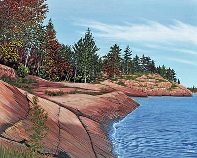 Painting - Rocky River Shore by Kenneth M Kirsch