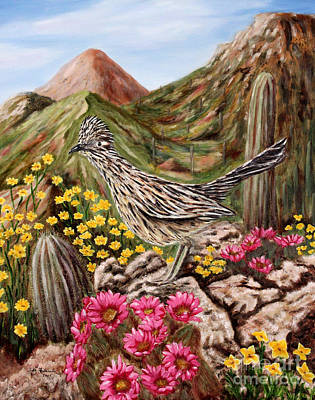 Art Print featuring the painting Rocky Road Runner by Judy Filarecki