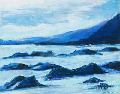 Painting - Rocky Scene With Water by Pati Pelz