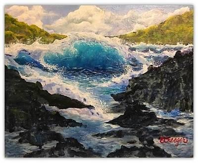 Painting - Rocky Sea by Esperanza Creeger