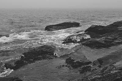 Photograph - Rocky Seascape On A Foggy Day by Andrew Pacheco