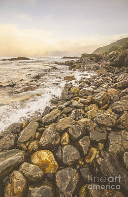 Water Filter Photograph - Rocky Seashore Scene  by Jorgo Photography - Wall Art Gallery