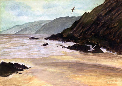 Soaring Painting - Rocky Shore by Brian Wallace