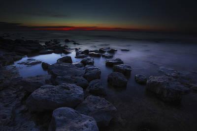 Photograph - Rocky Shore by CA  Johnson