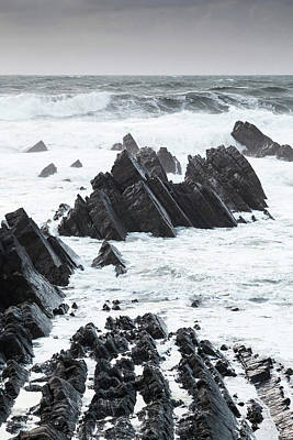 Photograph - Rocky Shore, Hartland Quay by Chris Deeney