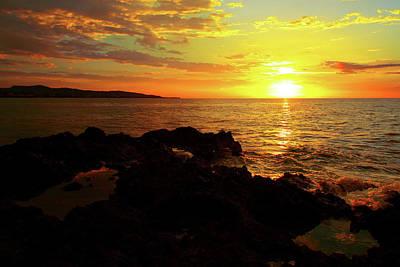 Jamaican Sunset Photograph - Rocky Shore by Kamil Swiatek