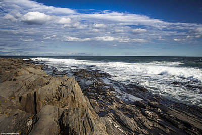 Rocky Shore Line Two Lights Maine  Art Print