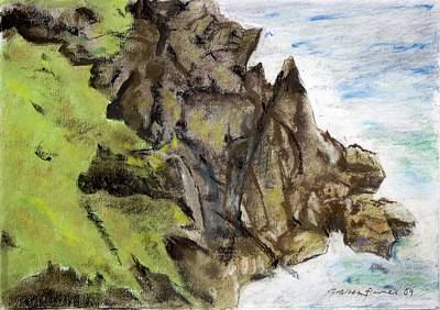 Painting - Rocky Shore Pastels by Kathleen Barnes