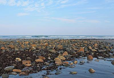 Photograph - Rocky Shore Side Of Longs Sands Beach York Maine by Michael Saunders
