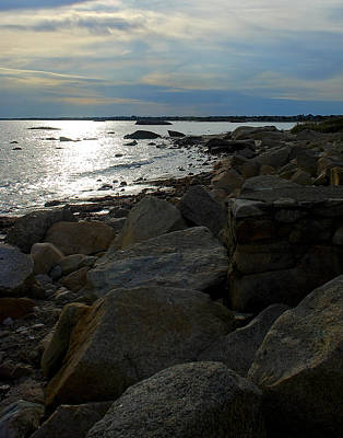 Photograph - Rocky Shore Sunset by Mark Wiley