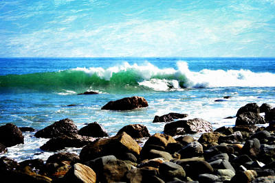 Rocky Shoreline - Dana Point Art Print by Glenn McCarthy