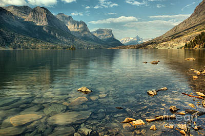 Photograph - Rocky Shores Along St. Mary Lake by Adam Jewell