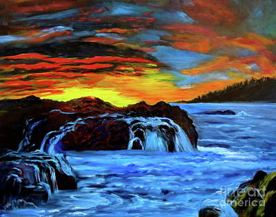 Painting - Rocky Shores by Jenny Lee