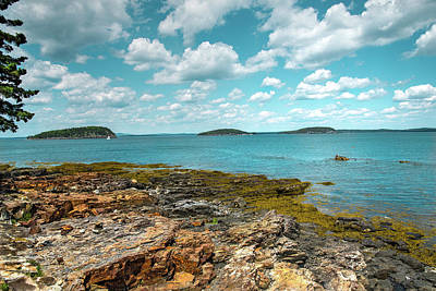 Digital Art - Rocky Shores Of Maine by Melinda Dreyer