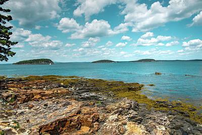 Digital Art - Rocky Shores Of Maine by Melinda Dreyer