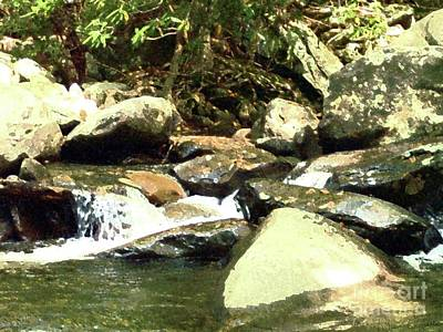 Art Print featuring the mixed media Rocky Stream 5 by Desiree Paquette