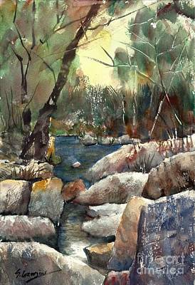 Painting - Rocky Stream by Sof Georgiou