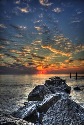 Photograph - Rocky Sunrise Tybee Island 2 by Reid Callaway