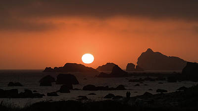 Photograph - Rocky Sunset Crescent City California by Lawrence S Richardson Jr
