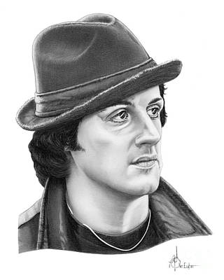 Sylvester Stallone Drawing - Rocky Sylvester Stallone by Murphy Elliott