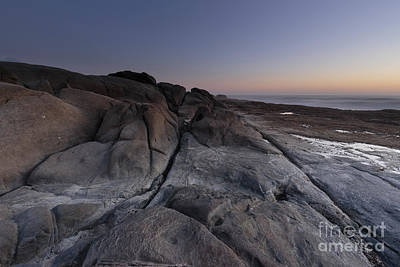 Rocky Terrain By The Ocean Art Print