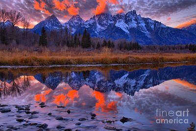 Photograph - Rocky Teton Reflections by Adam Jewell