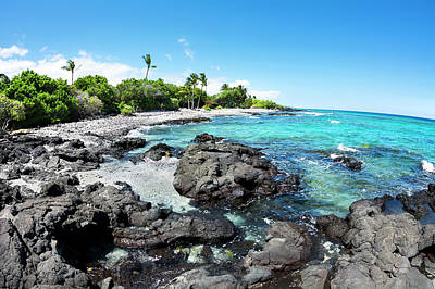 Photograph - Rocky Tropical Beach In Hawaii by Joe Belanger