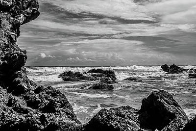Photograph - Rocky Waters In Bw by Tina Ernspiker