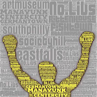 Rocky Yellow Silhouette  Print by Brandi Fitzgerald