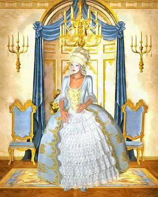 Rococo Lady Art Print