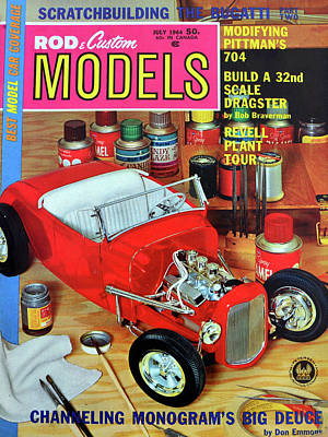 Photograph - Rod And Custom Models 1964 by David Lee Thompson