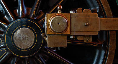 Locomotive Wheels Photograph - Rod And Hub by Murray Bloom