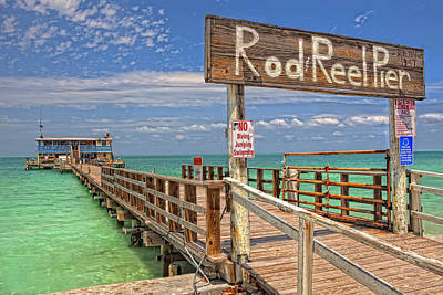 Reel Photograph - Rod And Reel Pier Anna Maria Island by Jim Dohms