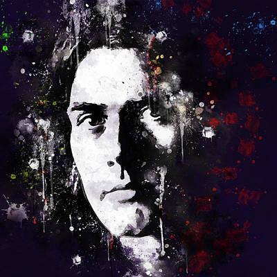 Digital Art - Rod Evans Deep Purple Portrait by Yury Malkov